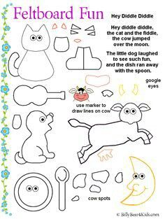 Hey Diddle Diddle Nursery Rhyme Mini Book And Sequencing