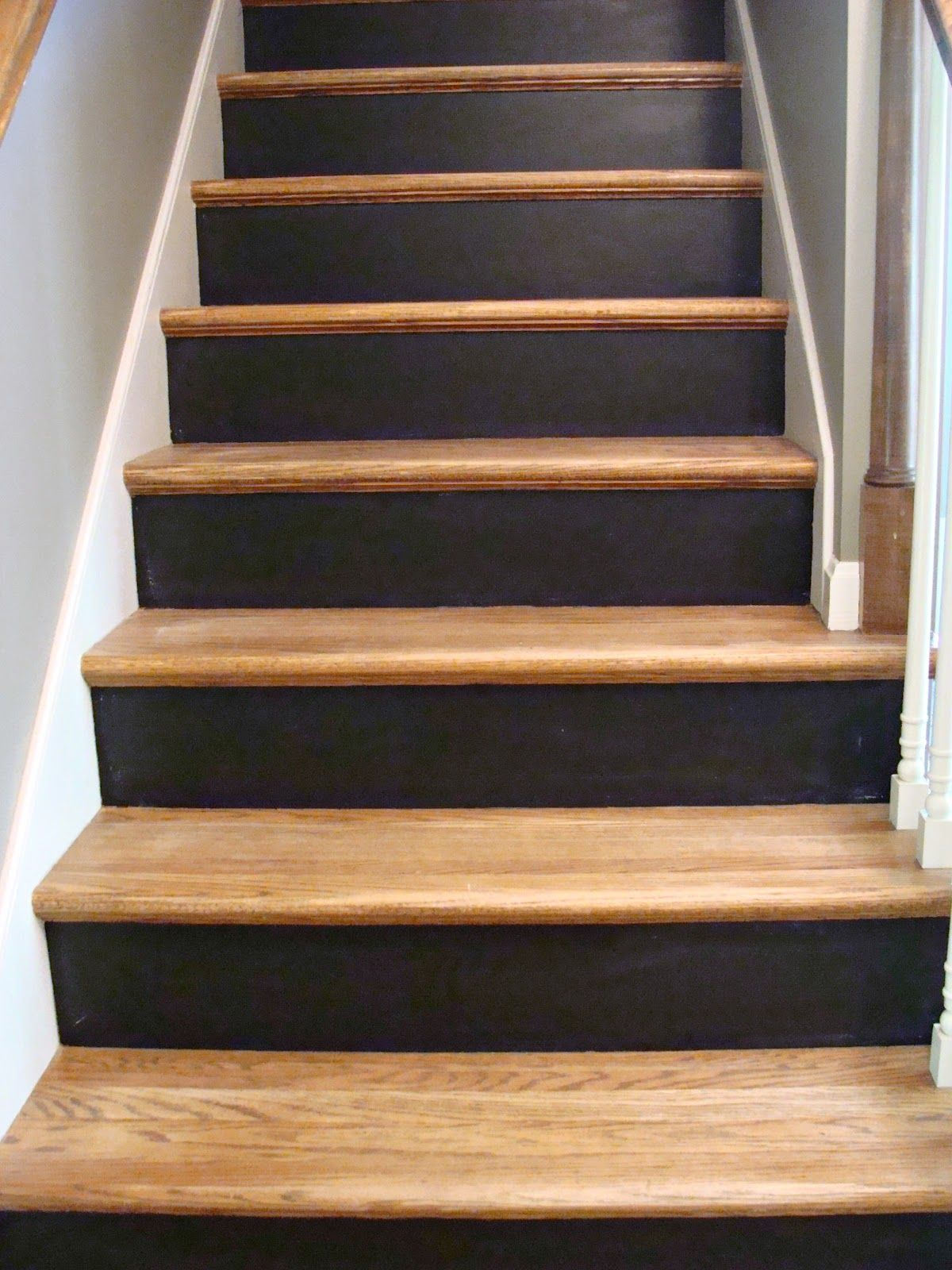 Chalkboard Stairs Stair Makeover Painted Stair Risers Diy