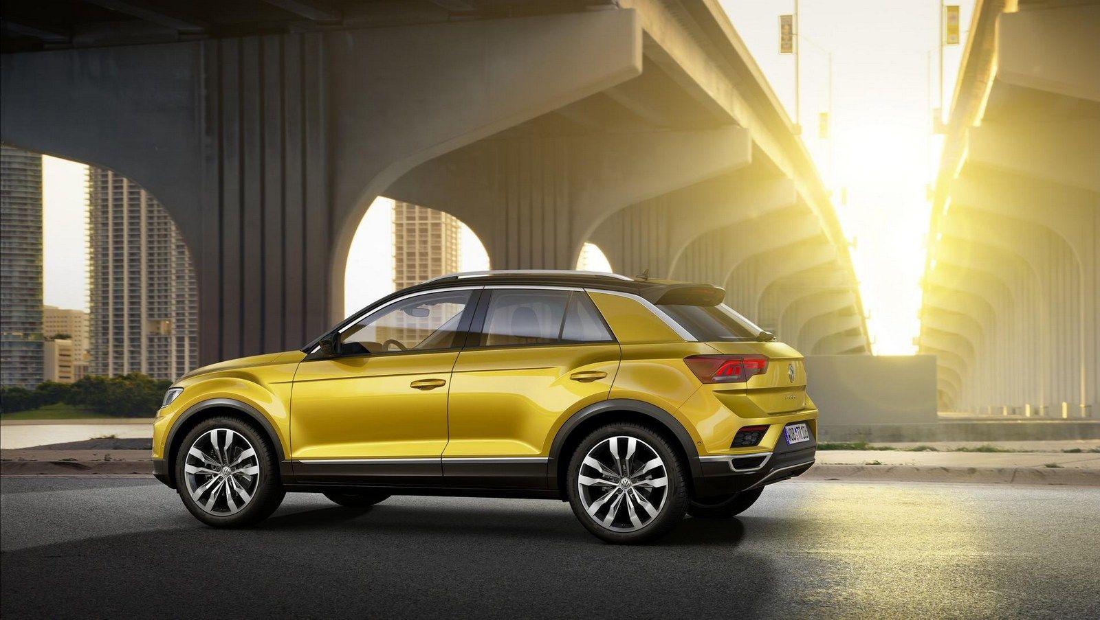 Volkswagen S T Roc Looks To Rock The Compact Crossover Market Carscoops Volkswagen Suv Volkswagen Models