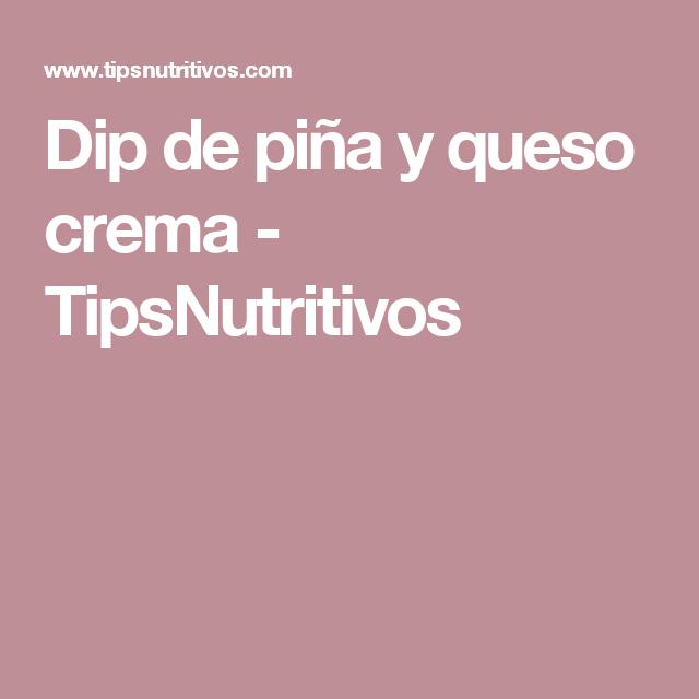 Dip de piña y queso crema - TipsNutritivos