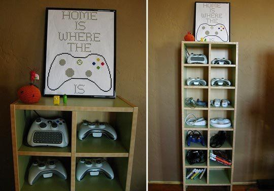 Neat and Tidy Video Game Controller Storage
