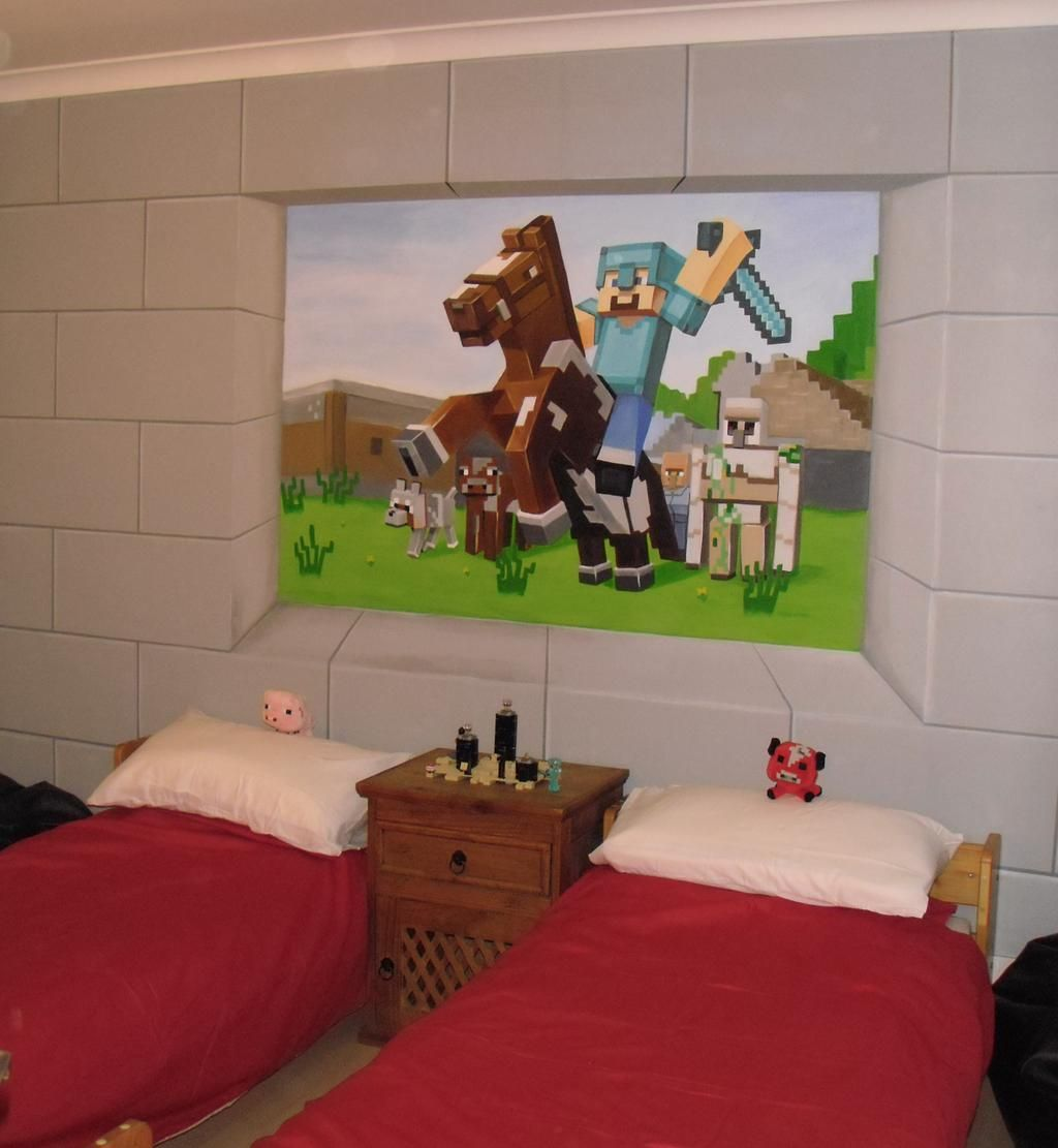 Minecraft Themed Bedroom Wall Art Mural Www.custommurals