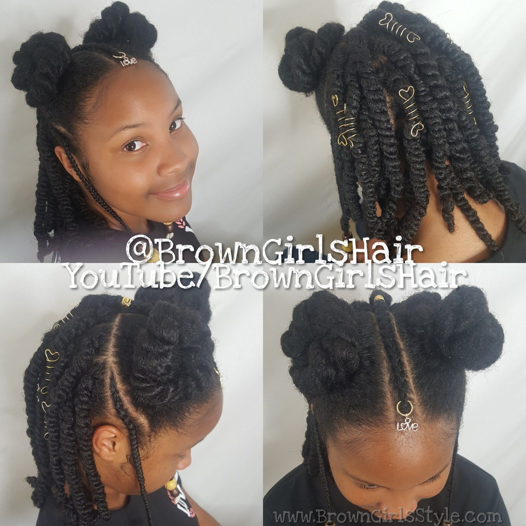 Brown Girls Hair Little Black Girls Natural Hair Hairstyles