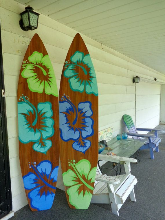 Beautiful Made in Hawaii Artistic Surfboards, Decorative ...