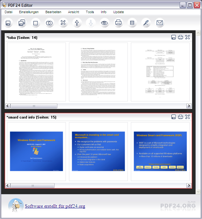 With Pdf24 Creator You Can Create Pdf Files Out Of Almost Any Application If The Application Provides A Print Option The Pdf24 C The Creator Software Freeware