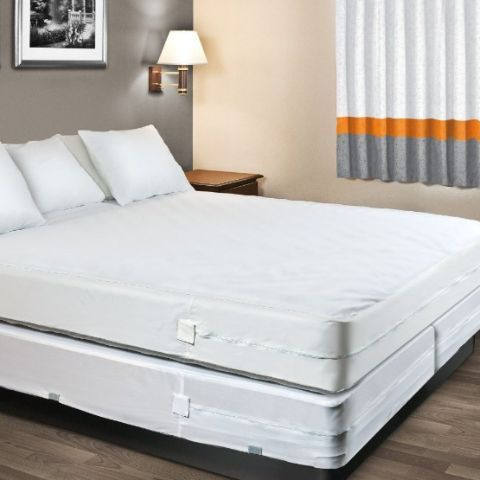 Mattress and Box Spring Encasement Covers - Waterproof and Allergy Free for Protection from Bed Bugs, Dust Mites and Spills