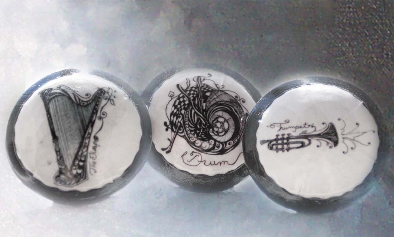 Musical Instruments 6 pc Set | Cheap Decorating: knobs for ... - photo#45