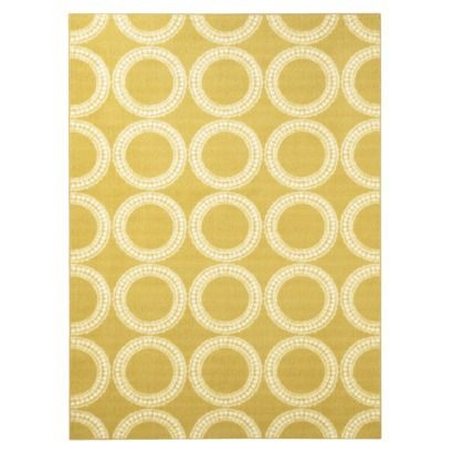 Room Essentials 174 5x7 Circles Area Run In Yellow Home