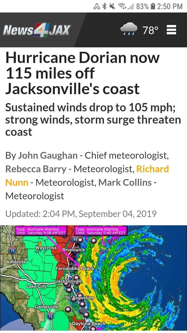Hurricane Dorian Memes 2019