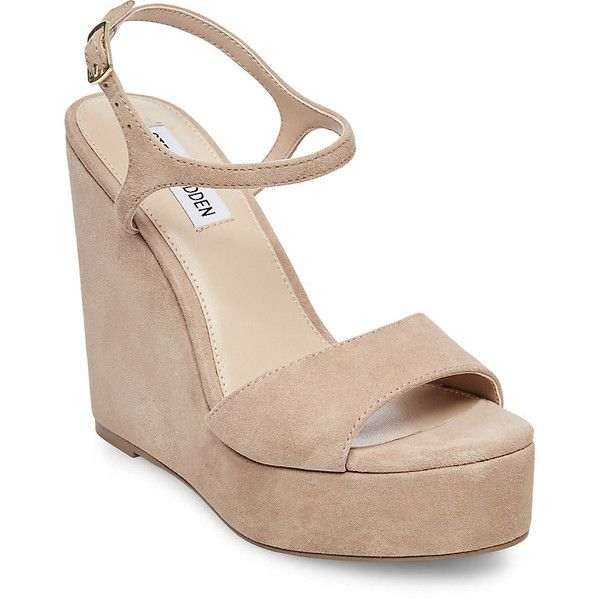 Steve Madden Truce Platform Wedges (290 PEN) ❤ liked on Polyvore featuring  shoes,