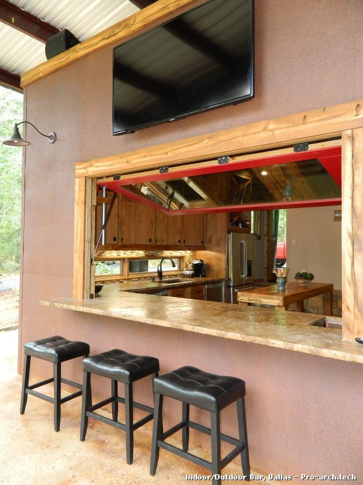 Indoor/Outdoor Bar by Wright-Built | Outdoor kitchen ...