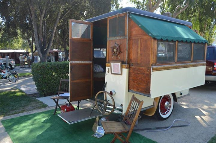 Vintage Trailers 1945 Homemade Vintage Pop Up Tiny Camper