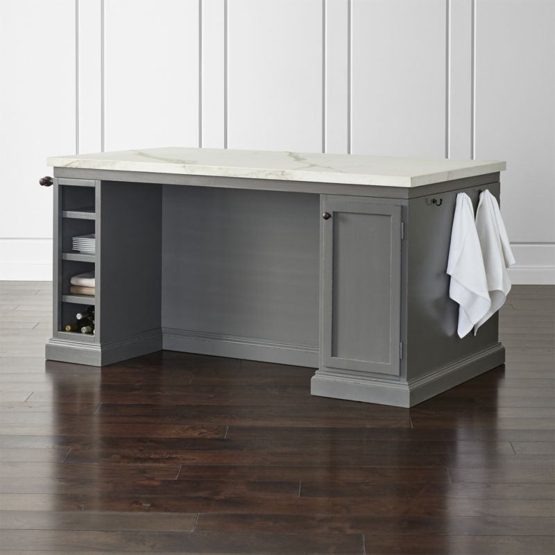 Cameo 72 Large Kitchen Island Crate And Barrel Freestanding Kitchen Island Large Kitchen Island Grey Kitchen Island