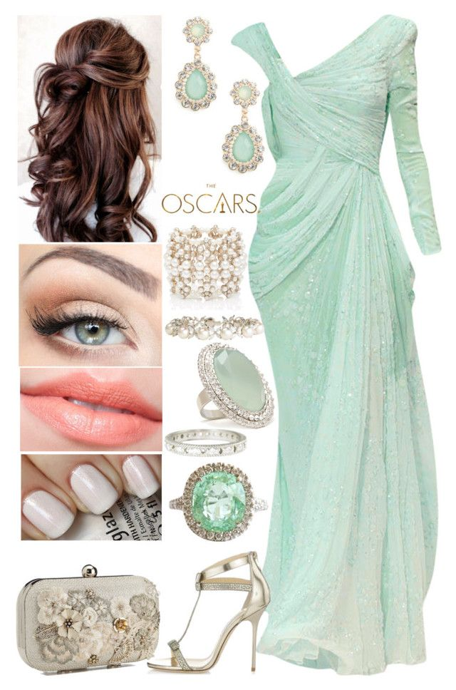 """87th Annual Oscar Academy Awards"" by shama25237 ❤ liked on Polyvore featuring Elie Saab, Jimmy Choo, Accessorize, BaubleBar, Forever New, Majorica, Forever 21, Megan Thorne and China Glaze"