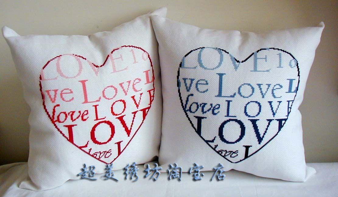 Cuscini Love.Schema Punto Croce Cuscini Love 01 Cuscino Punto Croce Punto