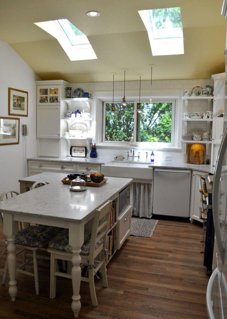White Kitchen Transformation in Upstate New York | Kitchen project ...