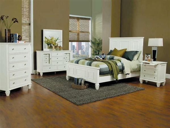 Coaster Furniture Sandy Beach White 2pc Bedroom Set with Cal King