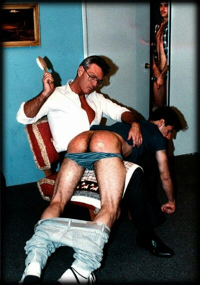 spank bottom Daddy bare