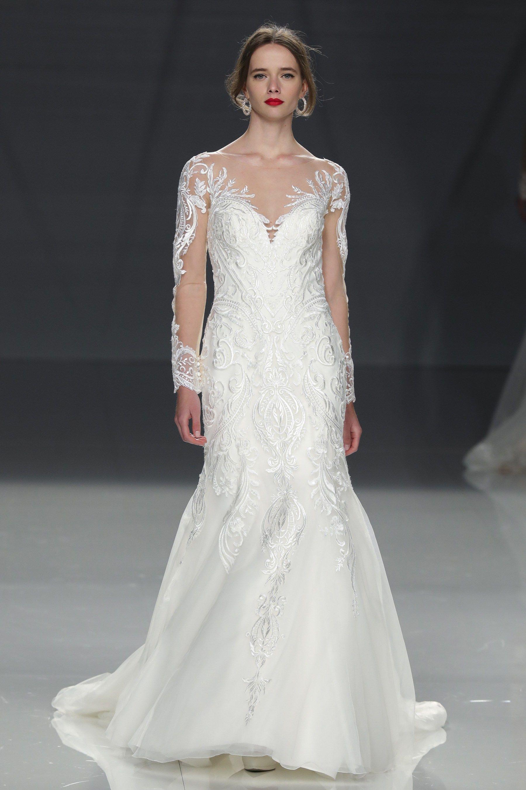 Demetrios spring bridal fashion show barcelona fashion week