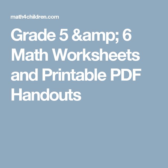 Grade 5 & 6 Math Worksheets and Printable PDF Handouts | Patterns ...