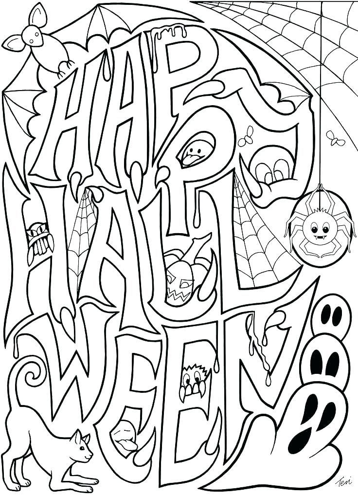 Halloween coloring pages pdf coloringpagesfree