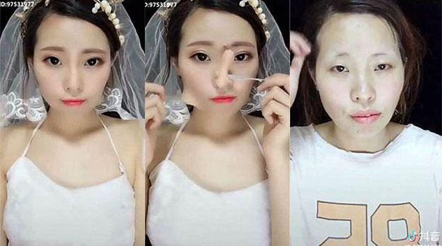 Γυναίκες γίνονται αγνώριστες μετά την αφαίρεση του «μακιγιάζ – γλυπτική».  Διαβάστε το cc828e976f8