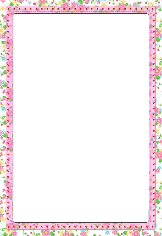 Free Printable Border Paper Stationery sherin jose – Border Paper Template
