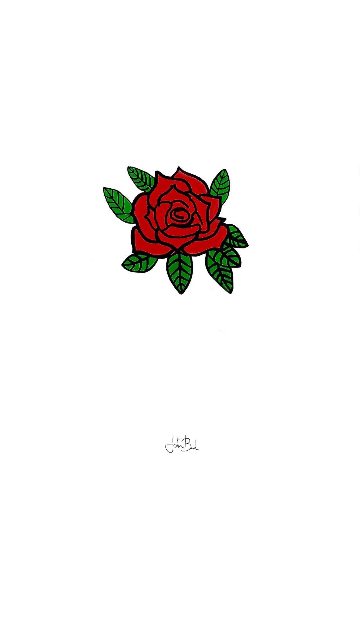 Res 1242x2208 Rose Iphone Wallpaper Wallpaper Rose White Minimal Red Wallpaper Iphone Roses Rose Wallpaper Iphone Wallpaper Aesthetic cartoon rose wallpaper