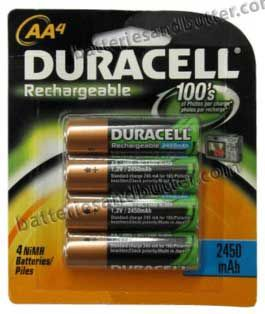 Duracell Dc1500 2450 Mah Nimh Aa Rechargeable Battery 4 Pack 9 00 6 60 Wholesale At Www Batteriesandbutter Com Duracell Rechargeable Batteries Nimh