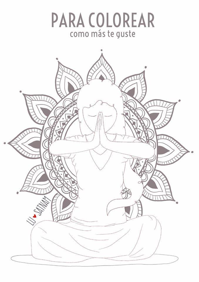 Ilustracion Para Colorear Chico Yoga Yoga Dibujos Colores