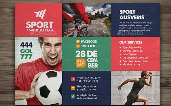 Beautiful Sport Flyers Psd Templates  Library