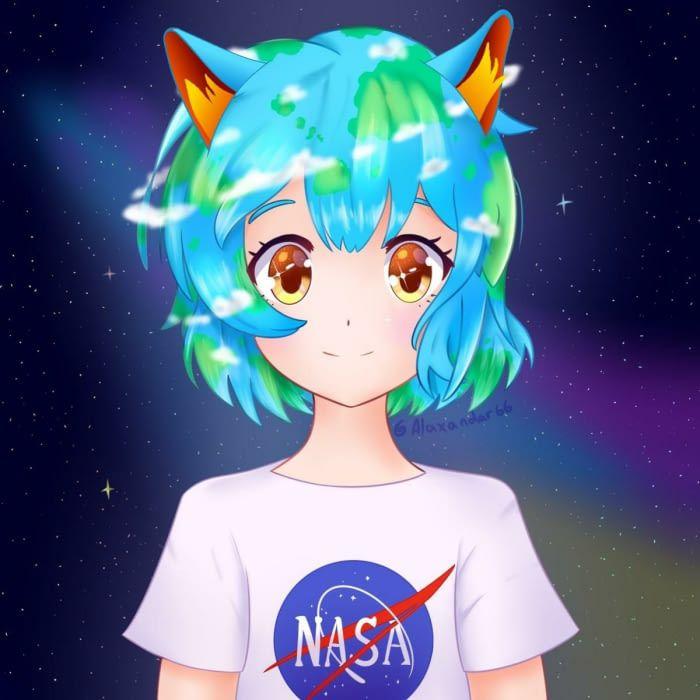 I couldn't resist... Neko Earth chan