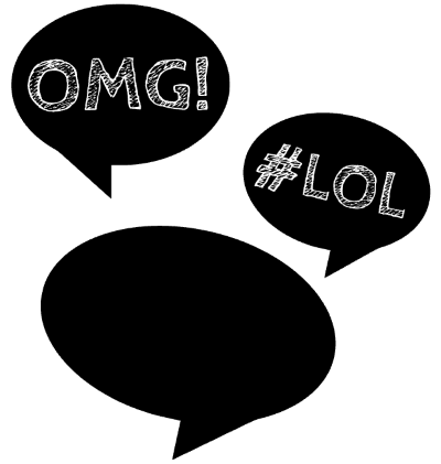 Photo Booth Props: Free Silhouette cut file for speech bubbles ...