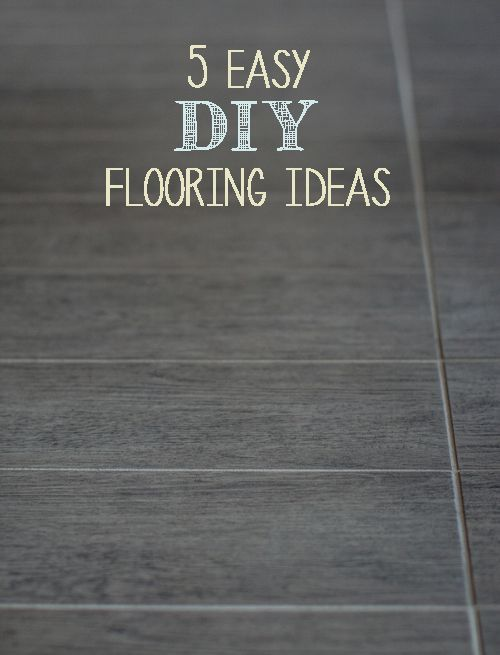 5 easy diy flooring ideas diy flooring flooring ideas for Cheap diy flooring ideas