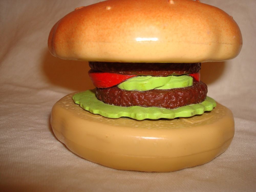 Fisher Price 1998 Toy Hamburger Item # 73346 #FisherPrice