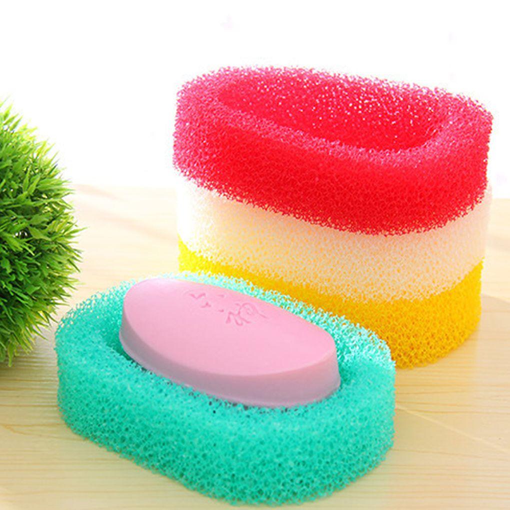 Bathroom Productione sponge soap racks candy color sponge