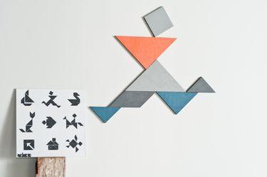 Kühlschrankmagnete Set : Tangram magnet set orange blau magnete schöne sachen und schöner