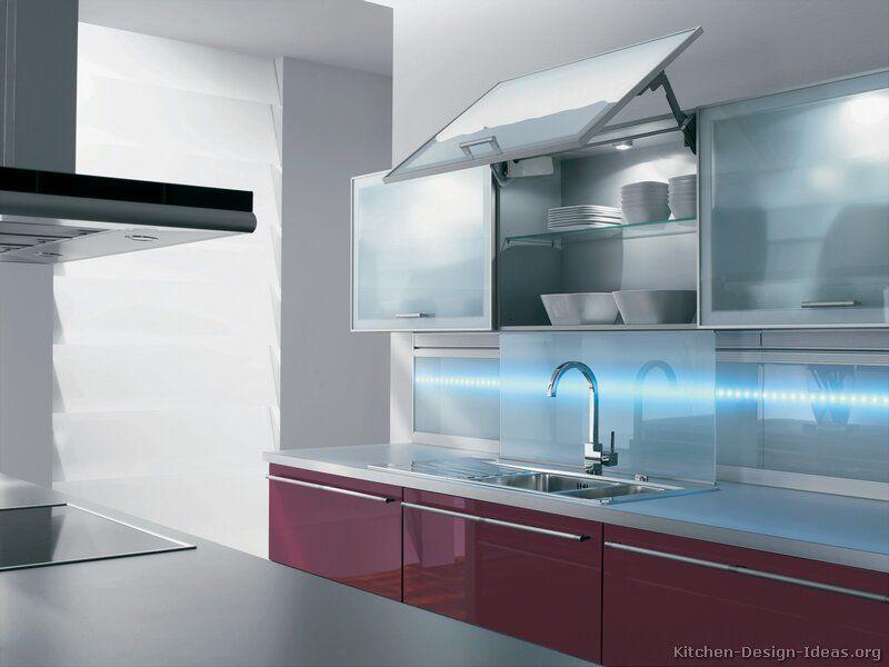 Modern Red Kitchen Cabinets #03 (Alno.com, Kitchen-Design-Ideas.org ...