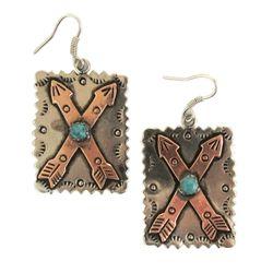 Gypsy Soule Copper and Silver Double Arrow Earrings DE446