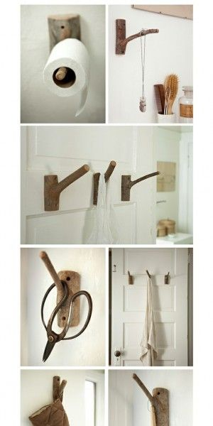 DIY: Maak van takken handige kapstokken. | BAUEN | Pinterest | Haken ...