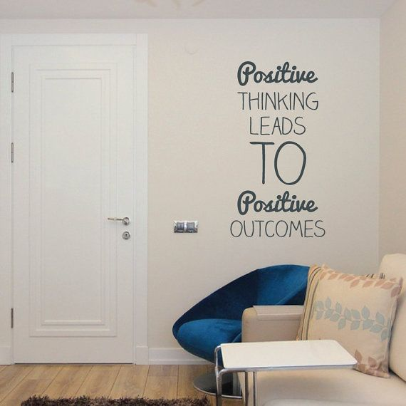 Positive thinking wall sticker decal wall vinyl quote by wallboss