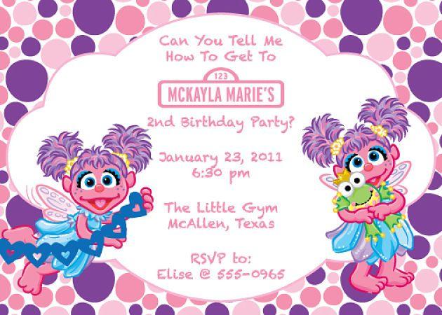 Possible invite idea for 2nd birthday kid stuff – Abby Cadabby Birthday Invitations