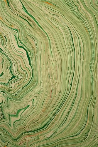 green marbled paper