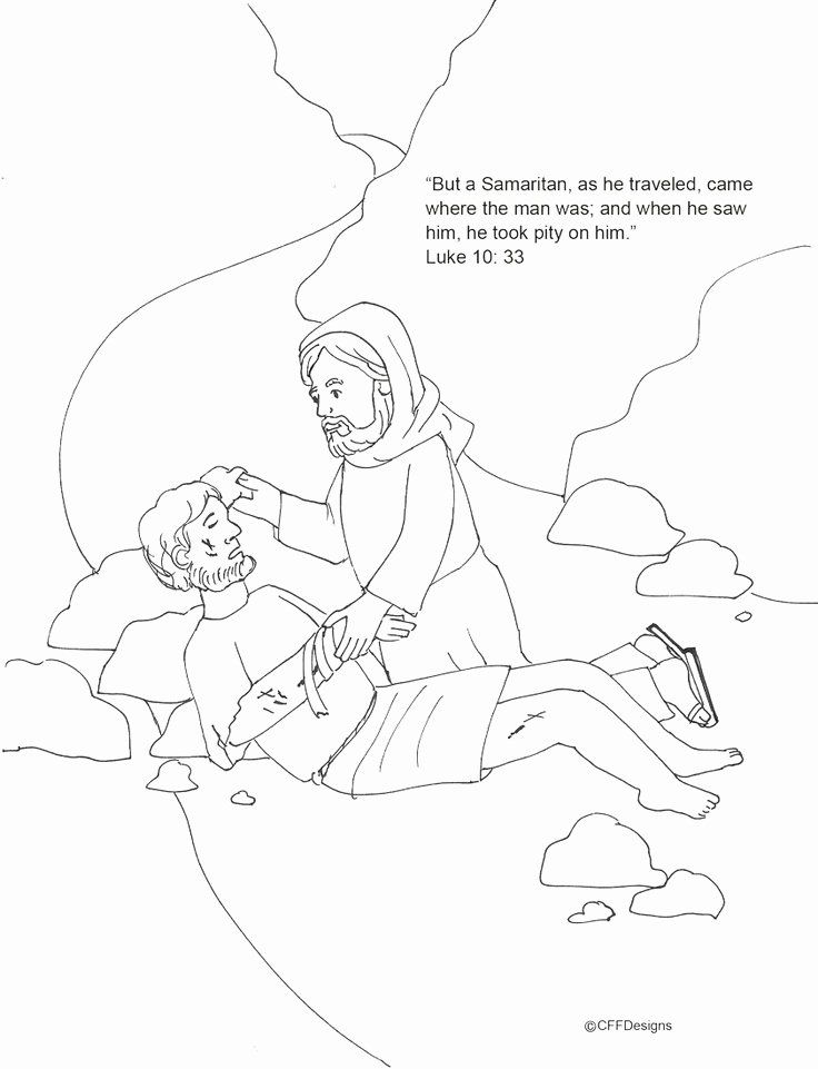 24 the Good Samaritan Coloring Page in 2020 Sunday