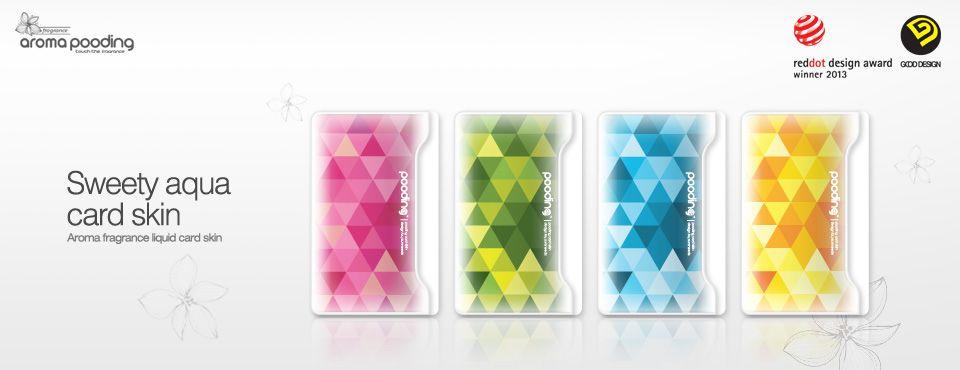 Sweet aqua card skin
