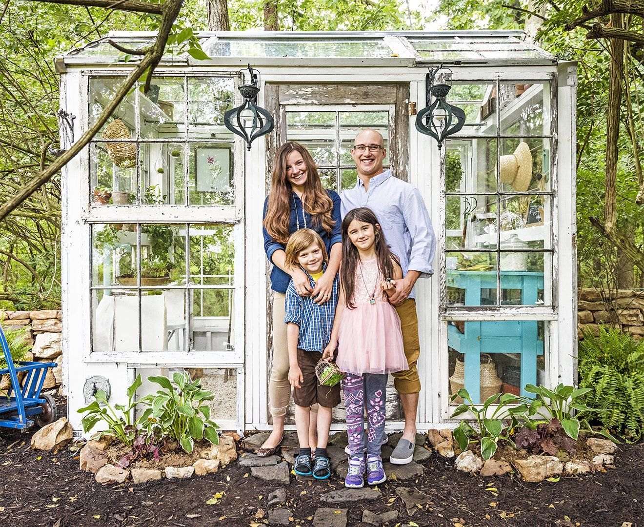 This Family Made a Glass Greenhouse For $500