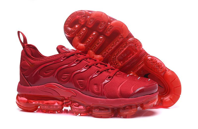 premium selection da97d ccbc9 Real Men Nike Air VaporMax Plus Shoes 2018 TN All University Red