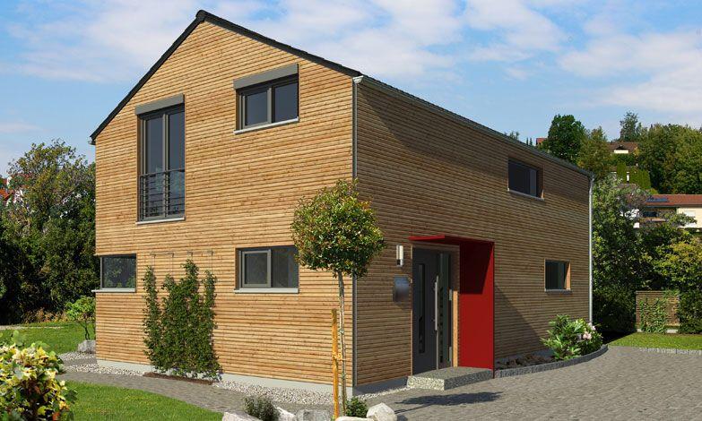 Holzhaus mit vorbaurollladen vorsatzrollladen aufsatzrollladen zaub pinterest - Holzhaus bauhausstil ...