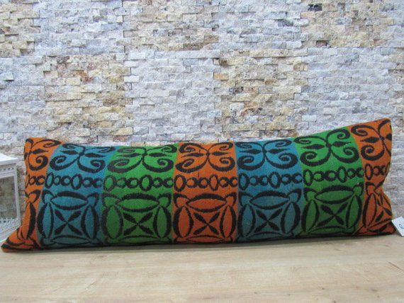 modern turkey boho pillow 16x48 bolster pillow organic sofa natural dyed kilim pillow aztec pillow e