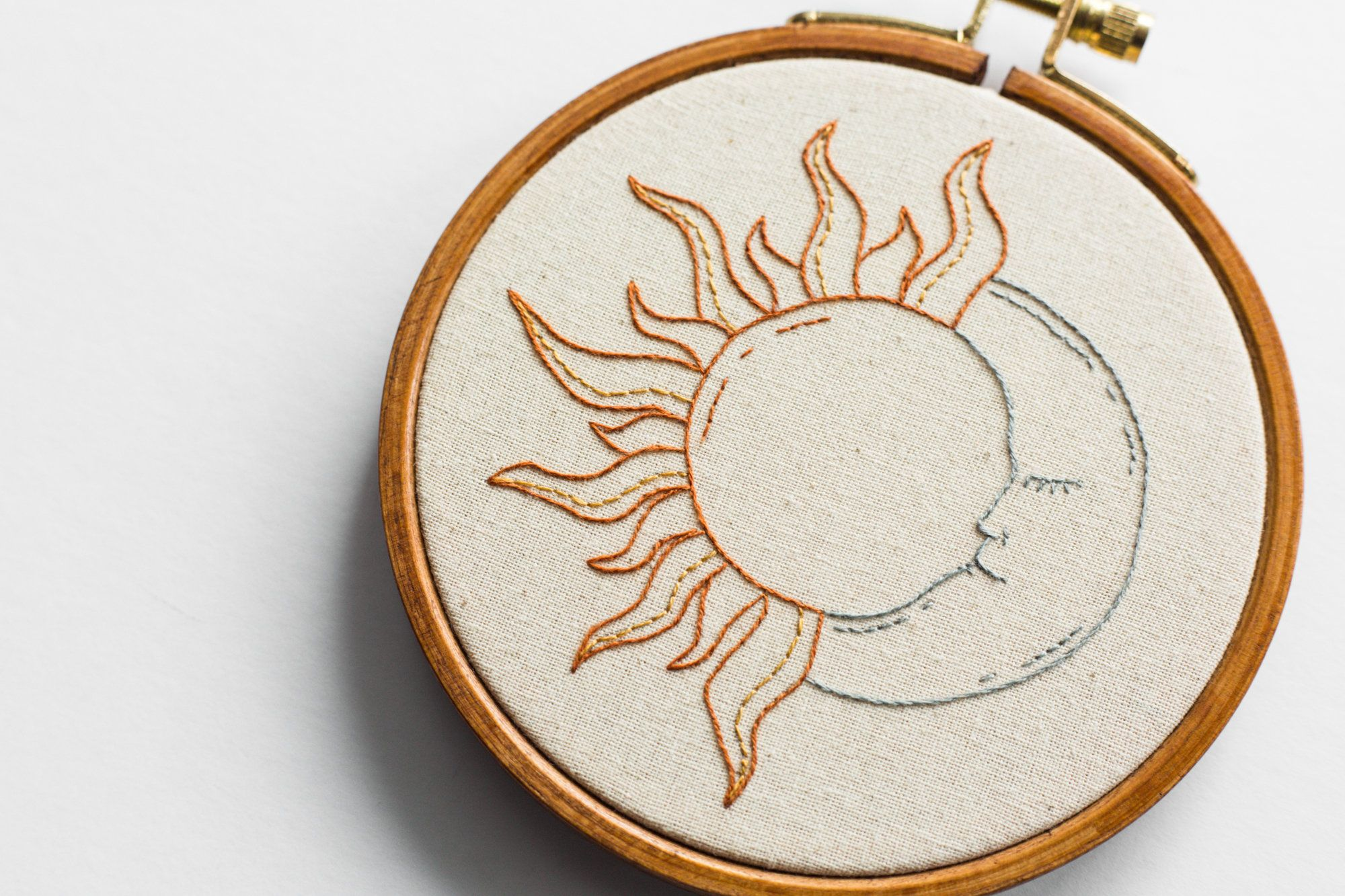 hand embroidery Sun and Moon Cross Stitch Kit